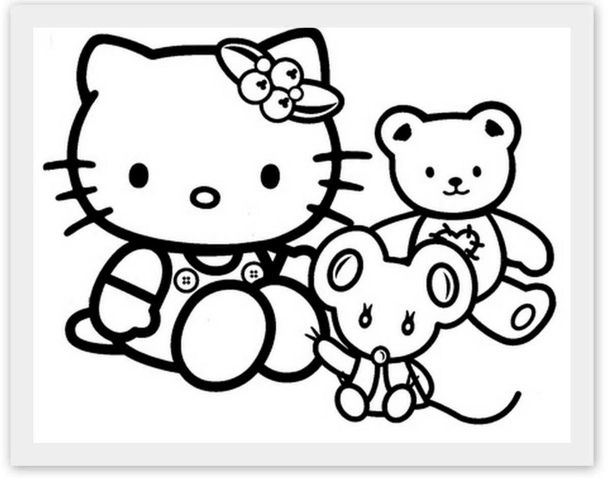 Coloriages à imprimer : Hello Kitty, numéro : 8643