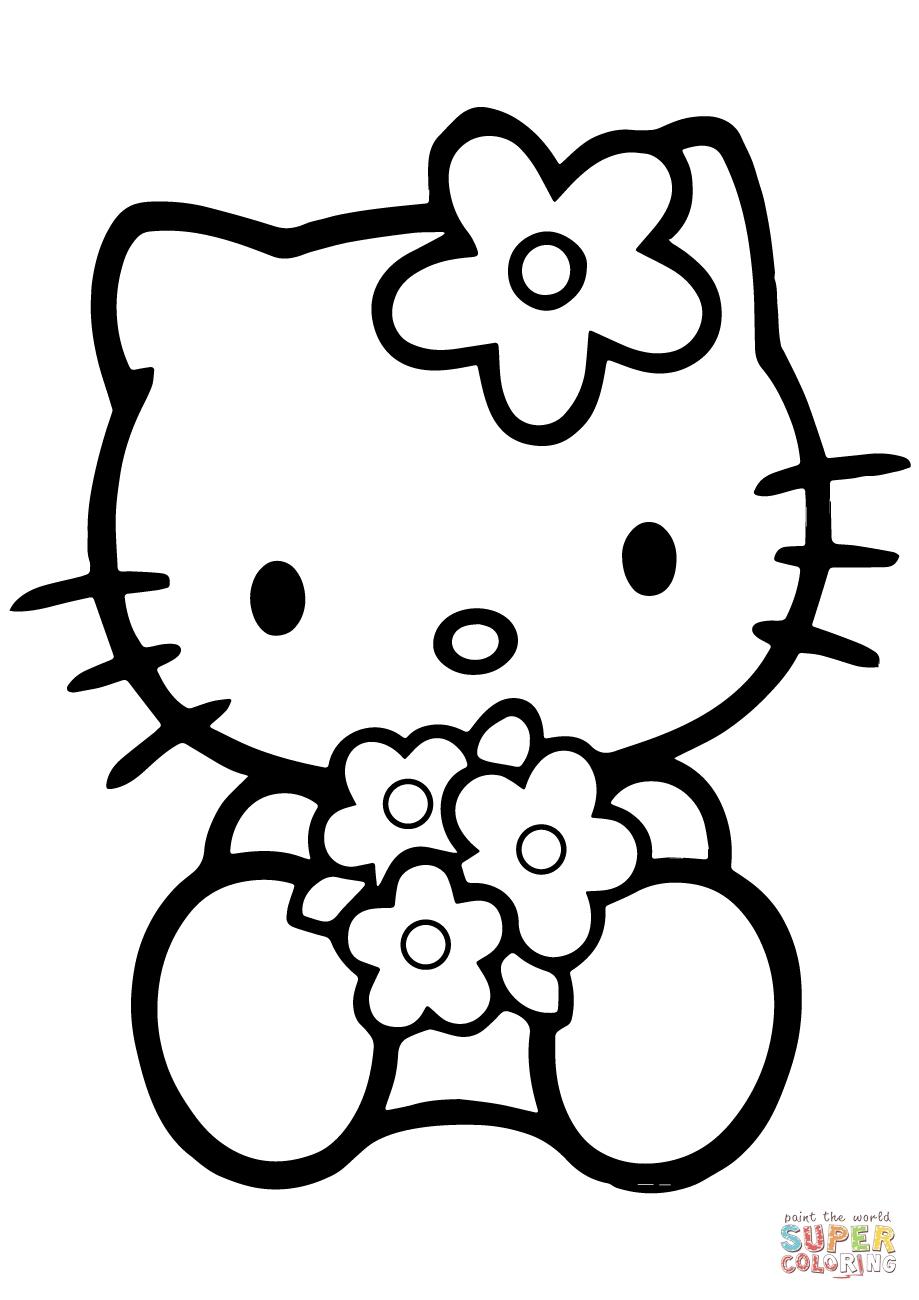 Coloriages à imprimer : Hello Kitty, numéro : 907285ac
