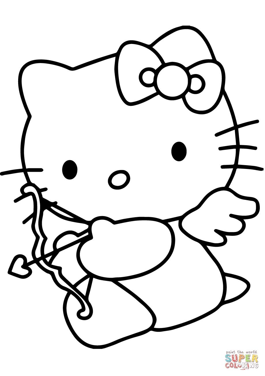 Coloriages à imprimer : Hello Kitty, numéro : b86de49d
