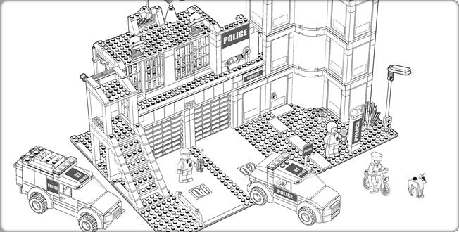 Coloriage Avion Lego City.Coloriages A Imprimer Lego Numero 28861
