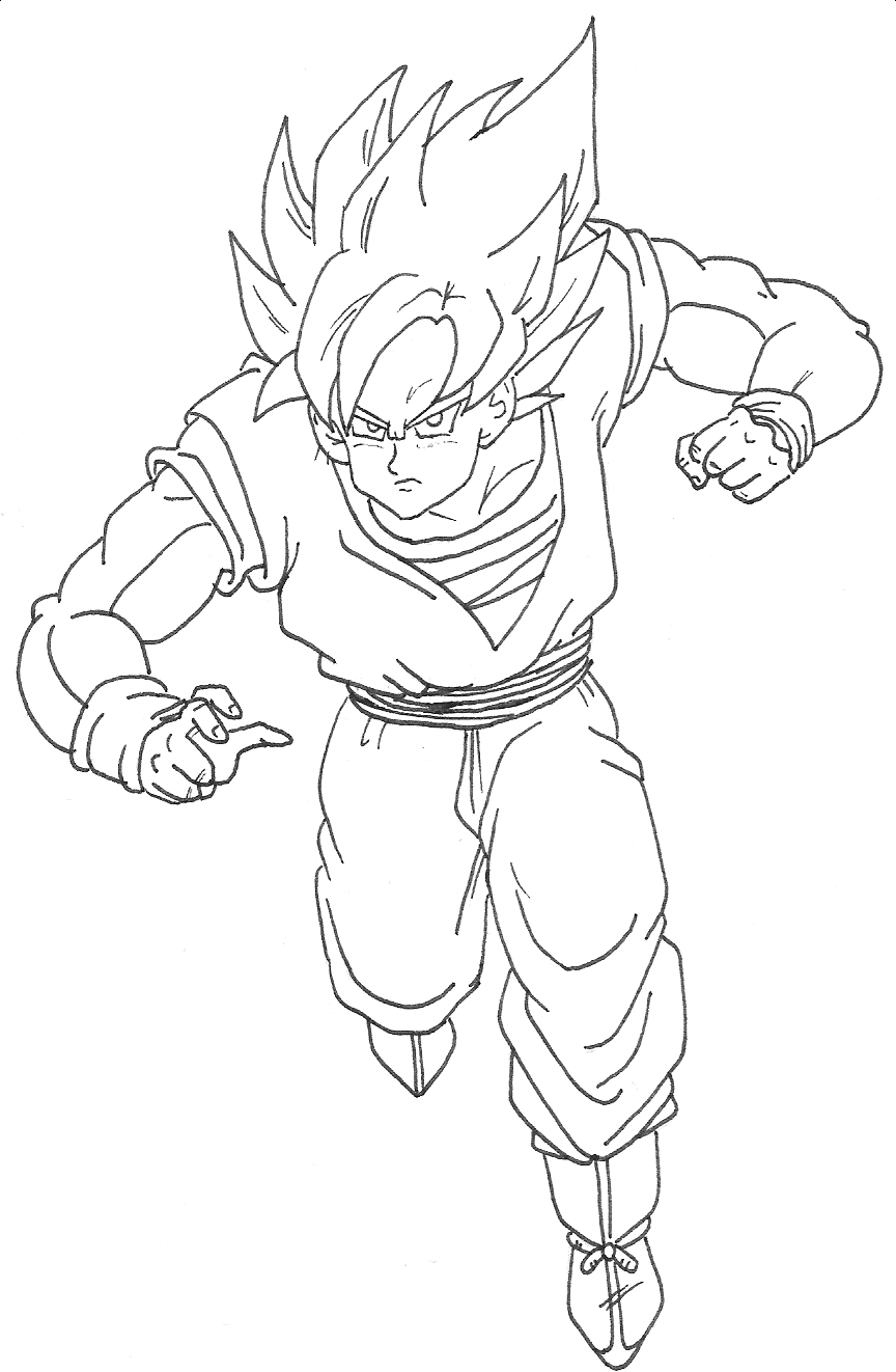 Coloriages A Imprimer Son Goku Numero 183851