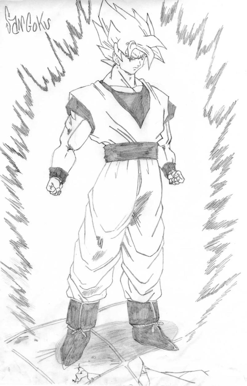 Dessin De Manga Goku