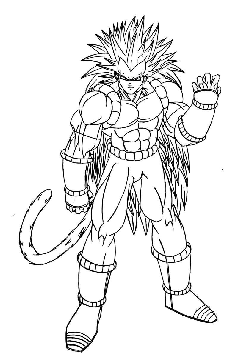 San Goku Coloriage Dragon Ball Z Sangoku Super Sayen 100