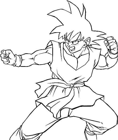 Coloriages à imprimer : Son Goku, numéro : 6744