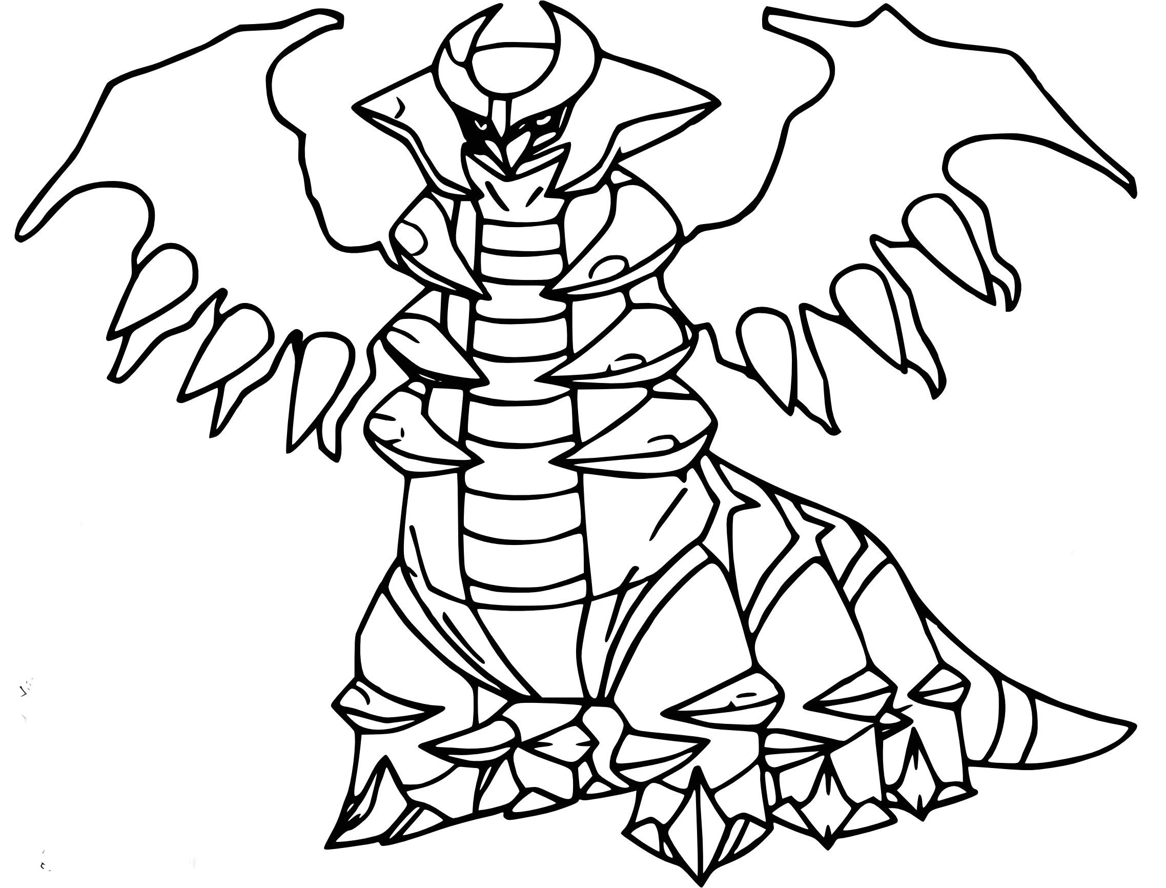 Dessin Pokemon Legendaire A Imprimer
