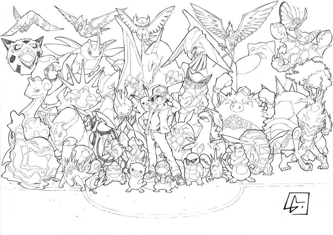 Coloriages 224 Imprimer Pokemon Num 233 Ro 627376