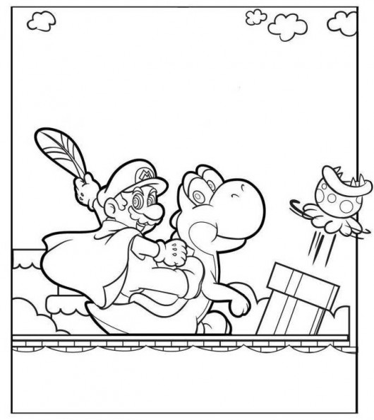 It's just a photo of Peaceful Super Mario 3d World Coloring Pages