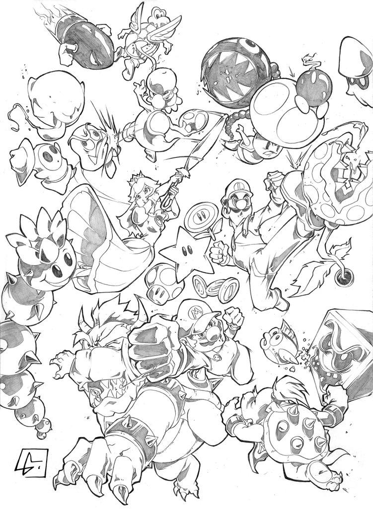 Yoshi Kleurplaten Printen Coloriages 224 Imprimer Super Mario Num 233 Ro 585877