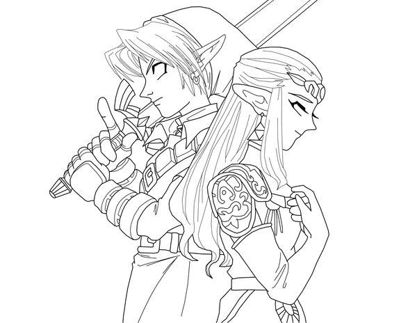 Coloriages à imprimer : Zelda, numéro : 9150