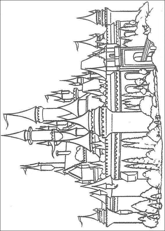 Coloriage Chateau Disney A Imprimer.Coloriages A Imprimer Walt Disney Numero 1286