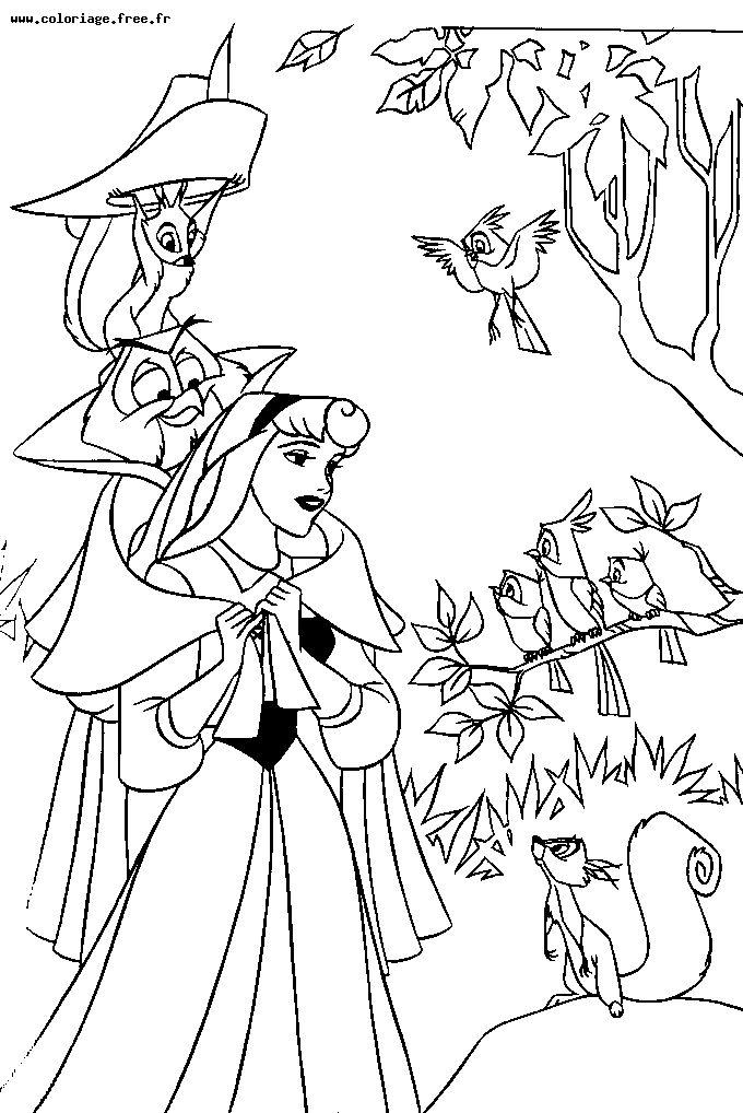 Coloriages à imprimer : La Belle au bois dormant, numéro