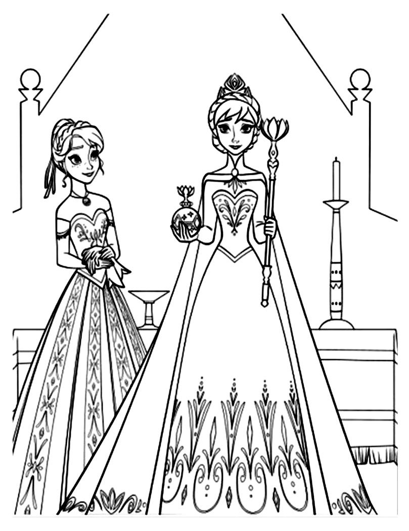 Coloriage Reine Des Neiges1jpg Coloriage Elsa Et Anna Reine Des