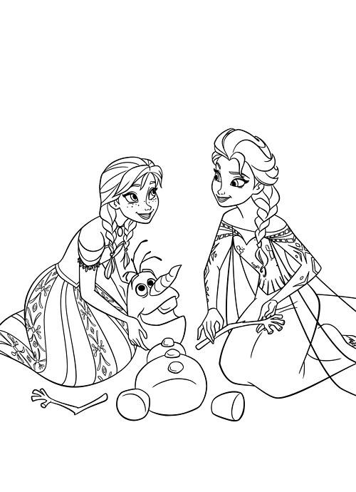 Dessin A Imprimer Reine Des Neiges Olaf