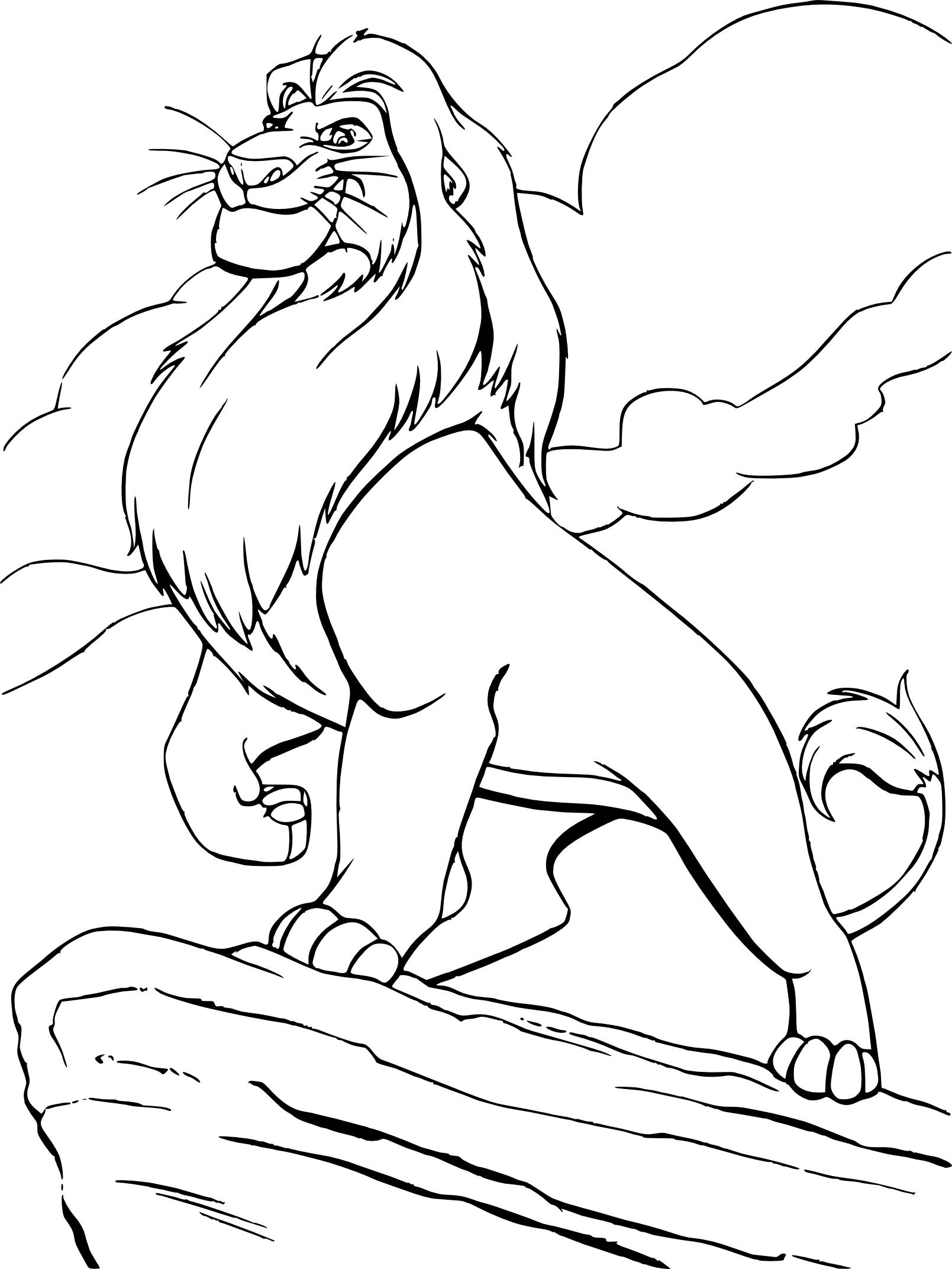 Coloriages à imprimer : Le Roi Lion, numéro : f79157e8