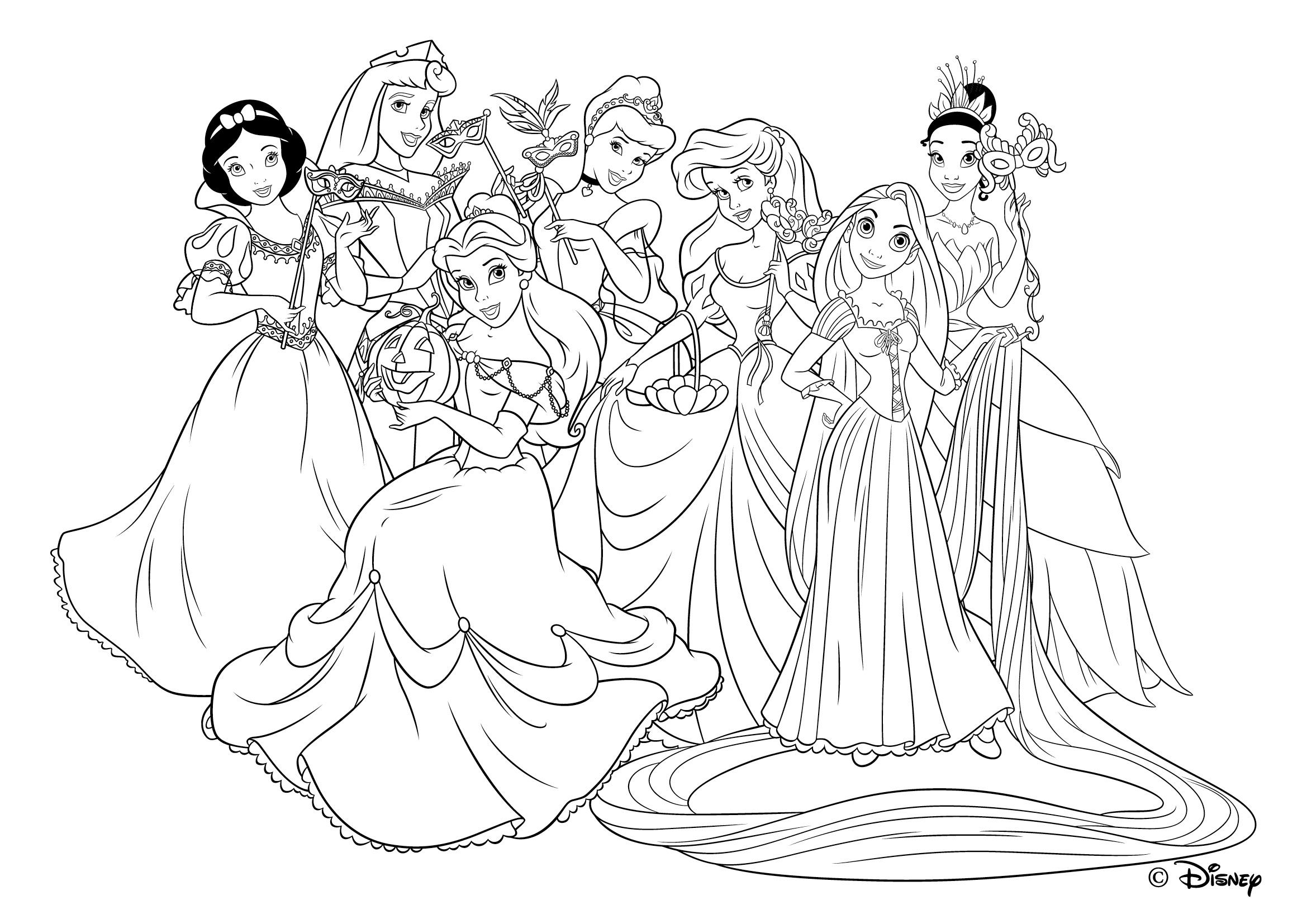 coloriage princesses disney imprimer