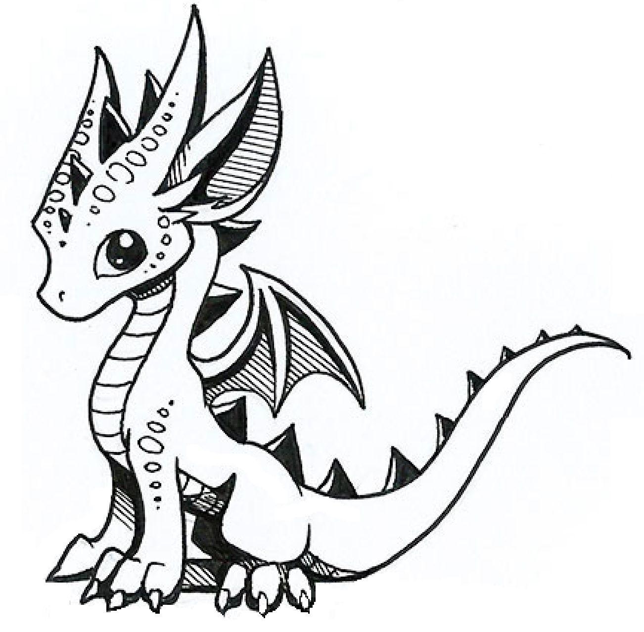 Coloriages à imprimer : Dragon, numéro : 1160fe6e
