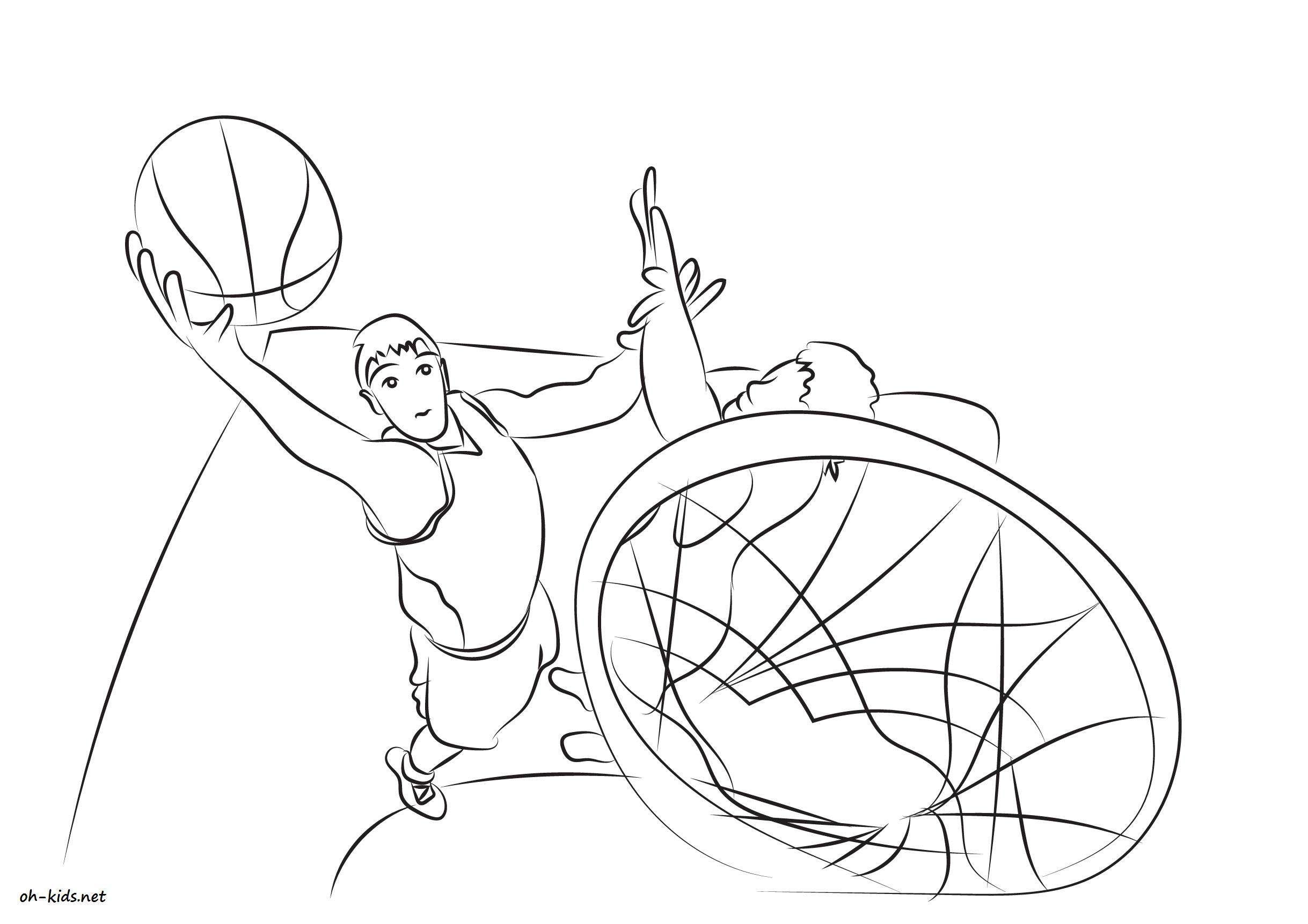 Coloriages à imprimer : Basketball, numéro : 2eb29fcb