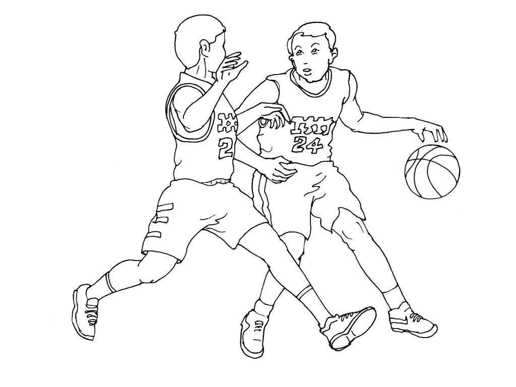 Coloriages à imprimer : Basketball, numéro : 35c819e4
