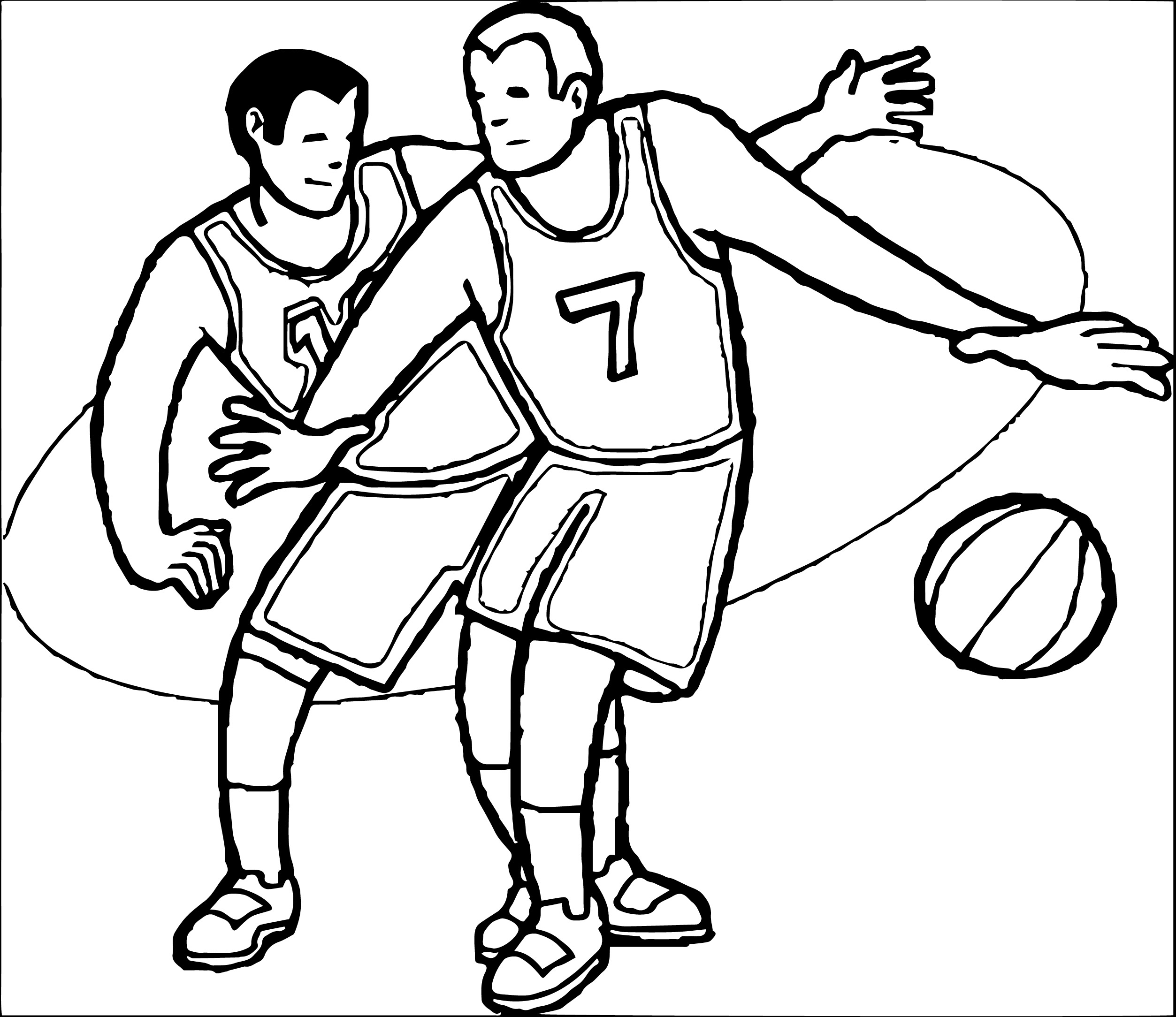 Coloriages à imprimer : Basketball, numéro : 41845e3b