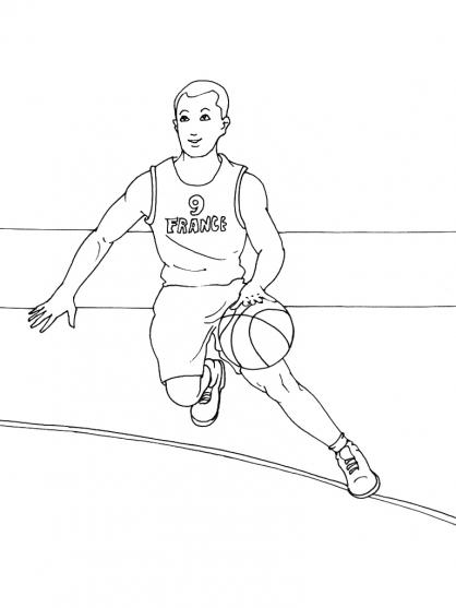Coloriages à imprimer : Basketball, numéro : 459826