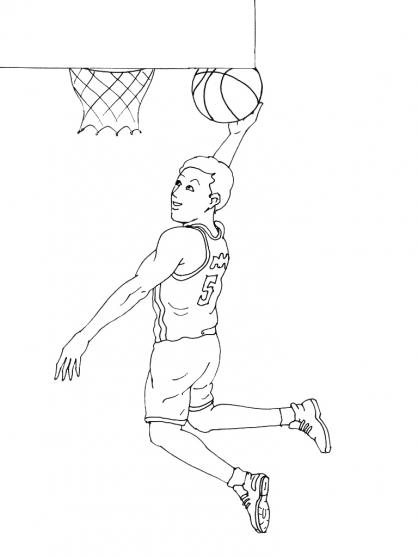 Coloriages à imprimer : Basketball, numéro : 459892