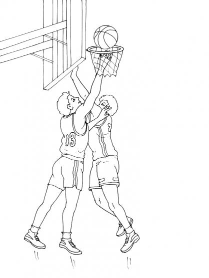Coloriages à imprimer : Basketball, numéro : 459895