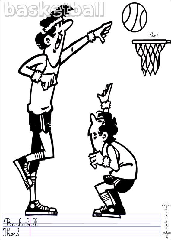Dessins en couleurs à imprimer : Basketball, numéro : 464644