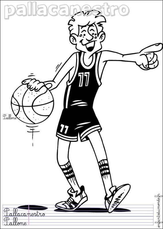 Dessins en couleurs à imprimer : Basketball, numéro : 464647