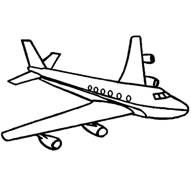 Dessins en couleurs à imprimer : Avion, numéro : 57552