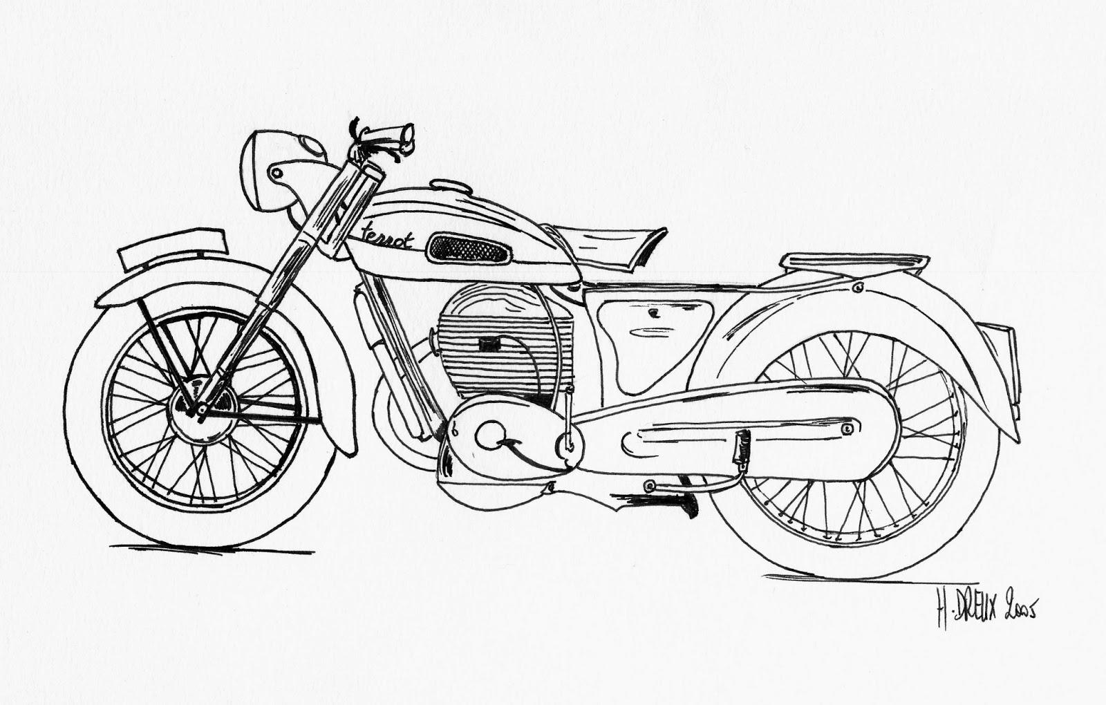 Coloriages à imprimer : Moto, numéro : 412190