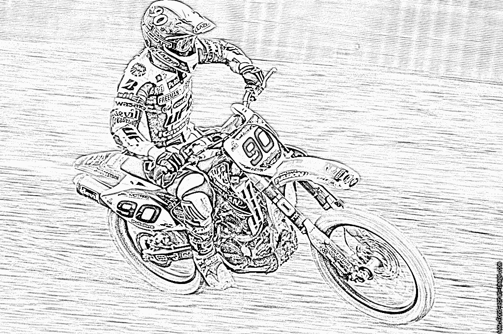 kleurplaat crossmotor ktm motocross motorrad gratis