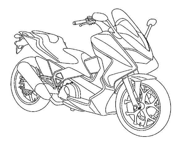 Coloriages à imprimer : Honda, numéro : 237591