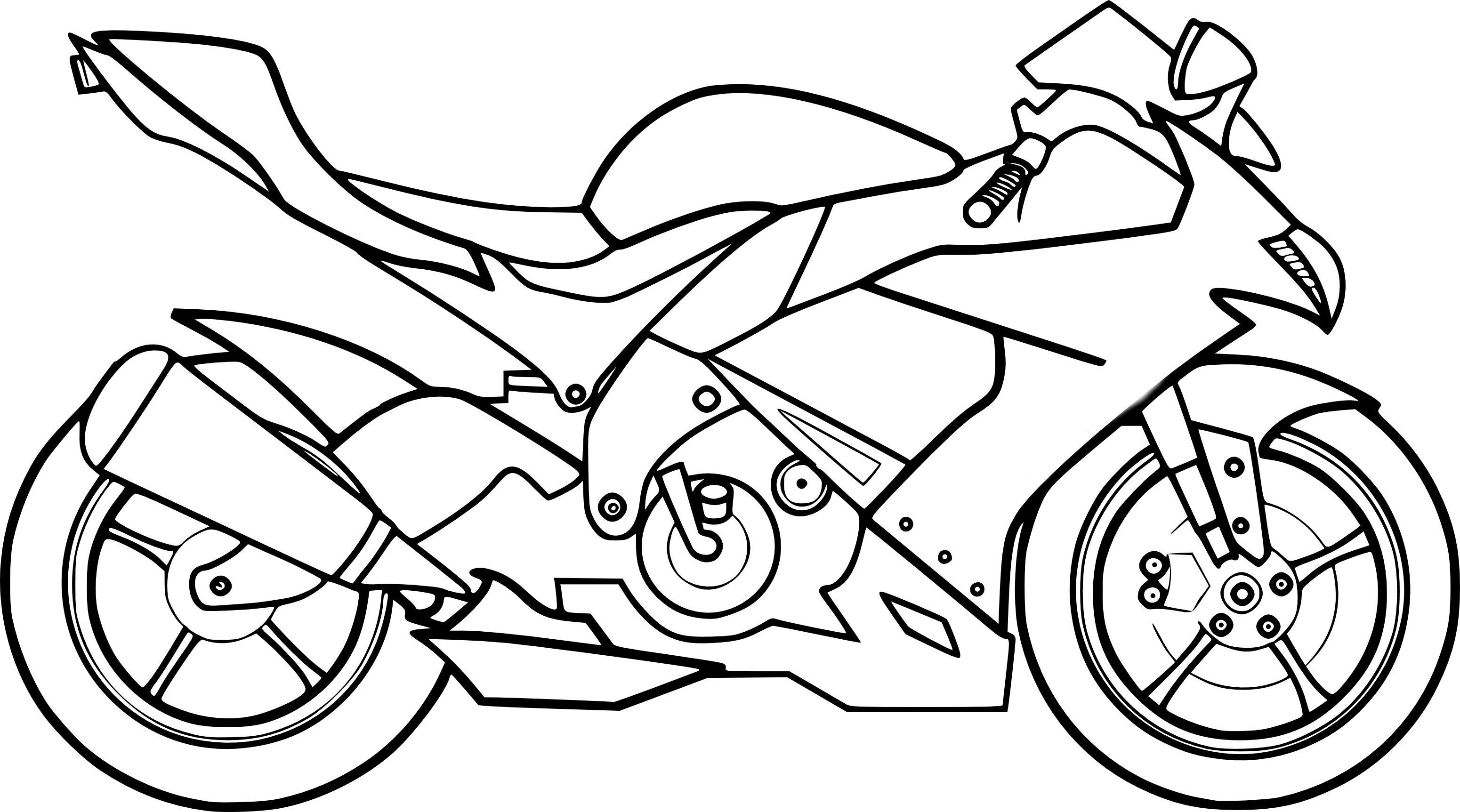 Incroyable  Mot-Clé Coloriages à imprimer  Moto, numéro  b25