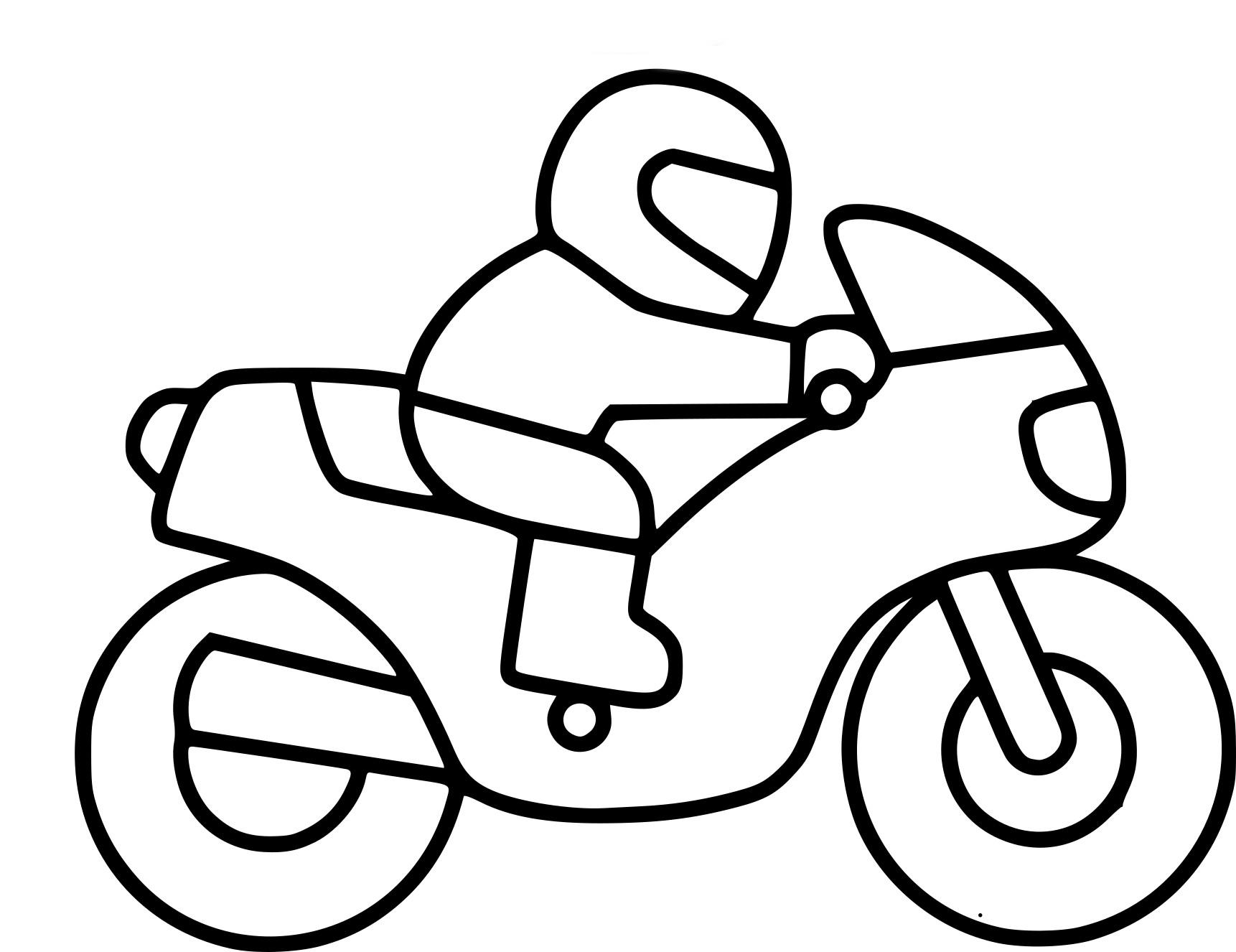 Coloriages à imprimer : Moto, numéro : ecb04df5