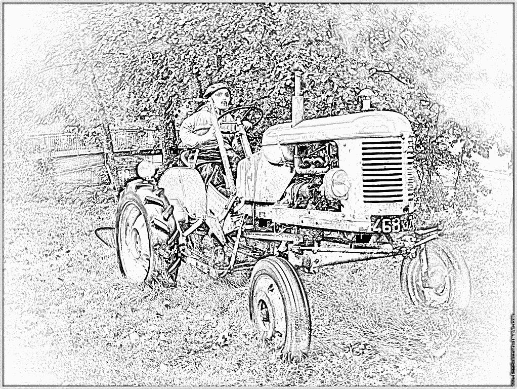 Coloriages à imprimer : Tracteur, numéro : 53742