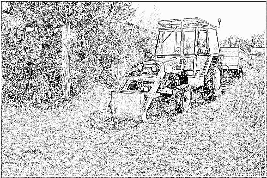 Coloriage Tracteur Avec Fourche Imprimer Le Coloriage Vehicules