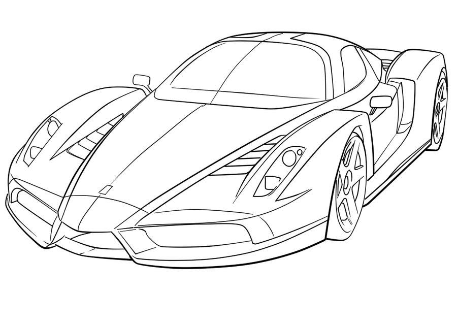 Coloriages à Imprimer Ferrari Numéro 203282