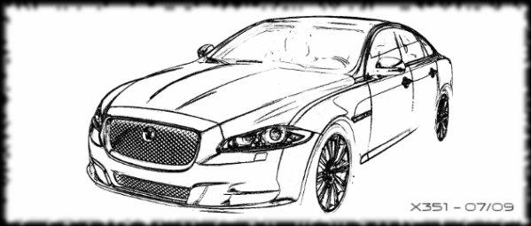Coloriage à imprimer : Véhicules - Voiture - Jaguar numéro ...