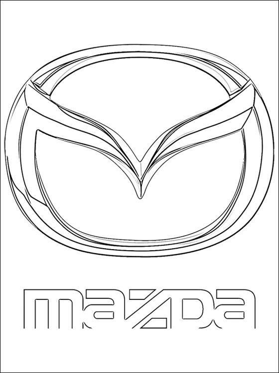 Coloriages à imprimer : Mazda, numéro : 458751