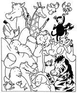 Imprimer le coloriage : Animaux carnivores, numéro 170912