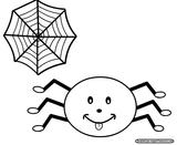 Imprimer le coloriage : Araignée, numéro 147158