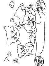 Imprimer le coloriage : Chat, numéro 128146