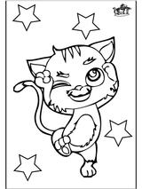 Imprimer le coloriage : Chat, numéro 16641