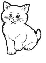 Imprimer le coloriage : Chat, numéro 24