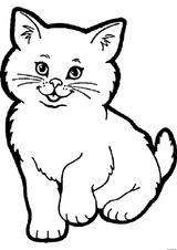 Imprimer le coloriage : Chat, numéro dcbf7a86