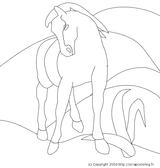 Imprimer le coloriage : Cheval, numéro 113515