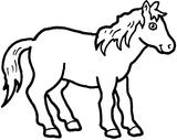 Imprimer le coloriage : Cheval, numéro 128628
