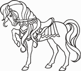 Imprimer le coloriage : Cheval, numéro 128635