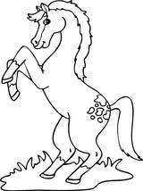Imprimer le coloriage : Cheval, numéro 128645