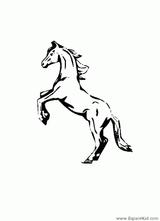 Imprimer le coloriage : Cheval, numéro 128652